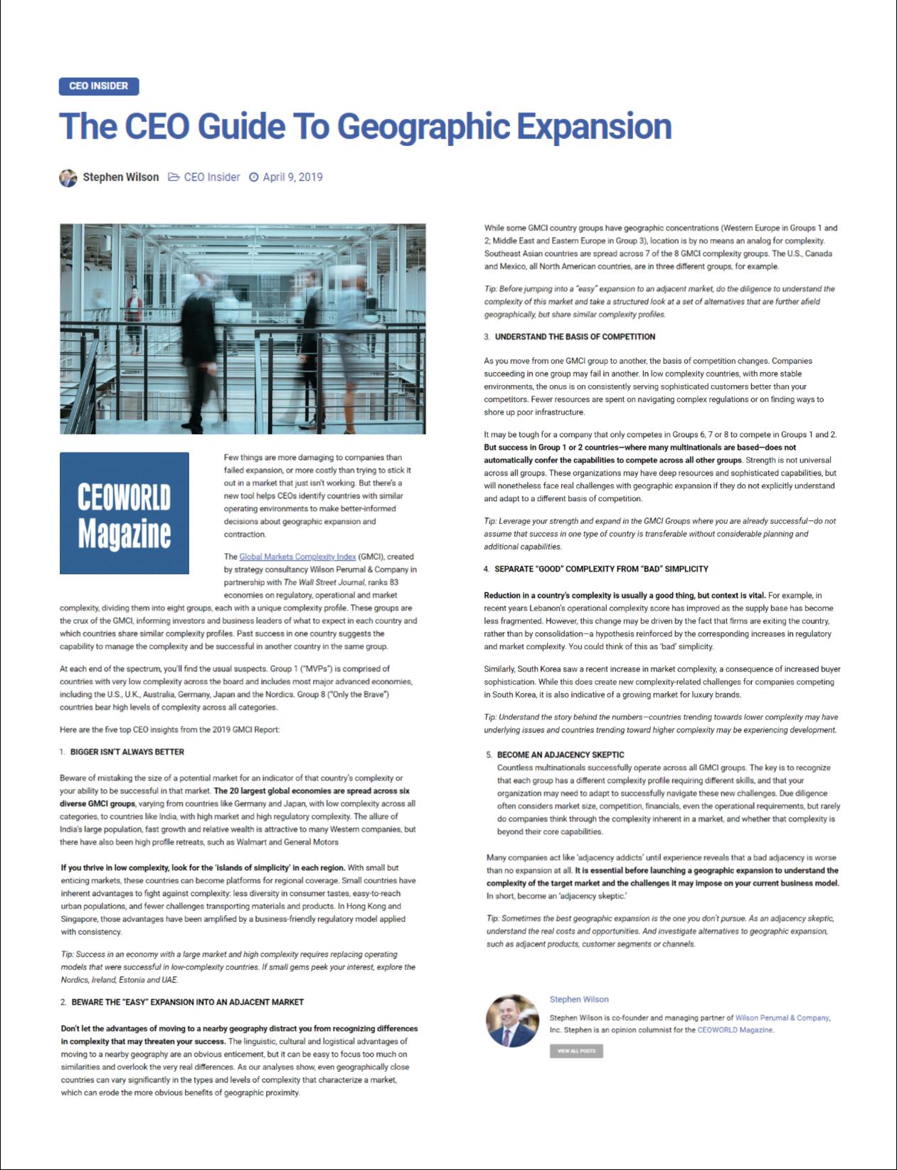 CEOWORLD Magazine GMCI