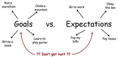 Goals vs Expectations
