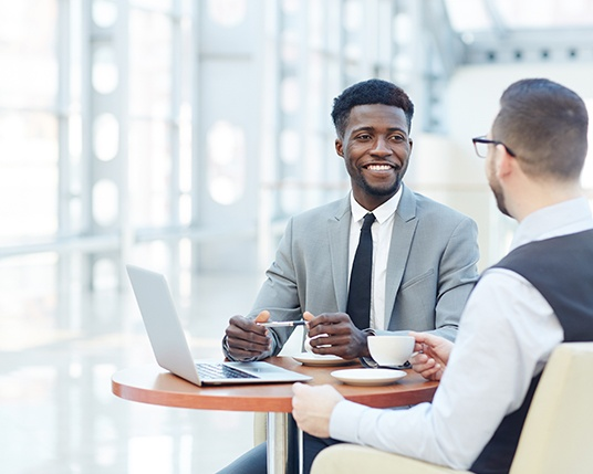 two people at an interview