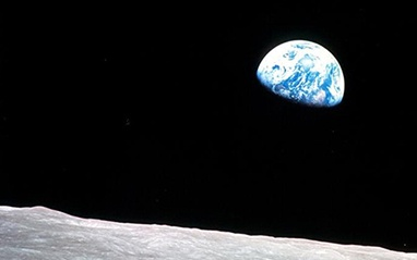 View of Earth from the Moon
