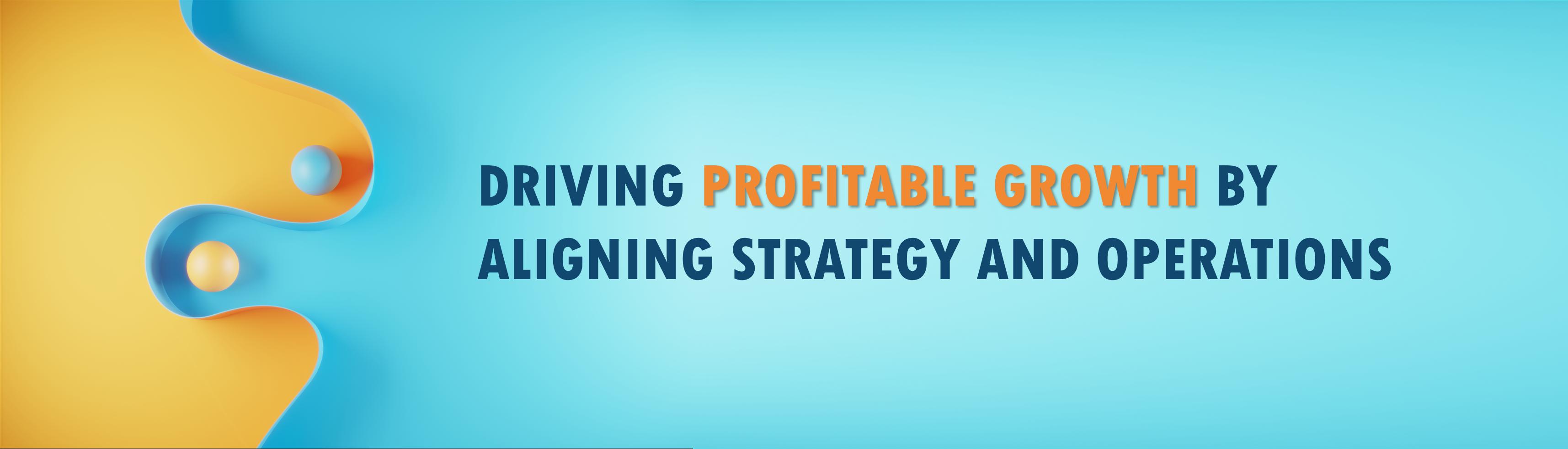 Driving profitable growth