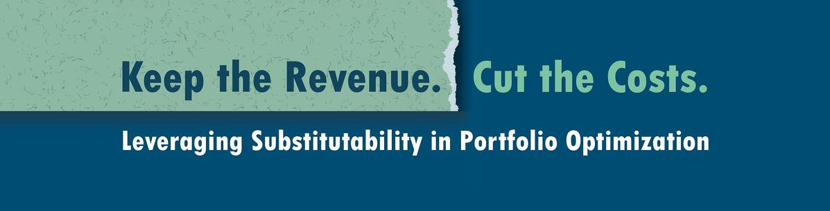 Leveraging Substitutability in Portfolio Optimization